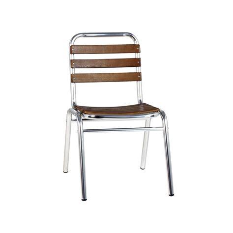 la chaise de bois chaise terrasse aluminium bois chaise aluminium bois