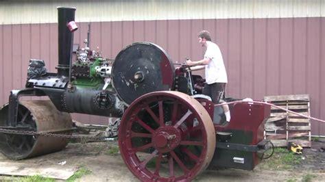 garrett steam roller running  air youtube