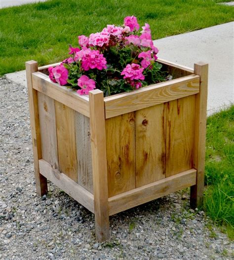 outstanding diy planter box plans designs  ideas   sufficient living