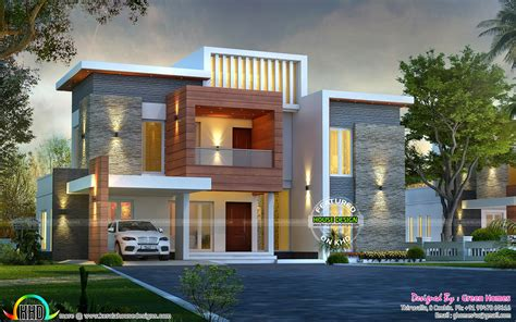 modern 1 house plans awesome contemporary style 2750 sq ft home kerala home