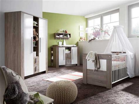 Babyzimmer Möbel Komplett Set 4-teilig Aus Eiche Braun