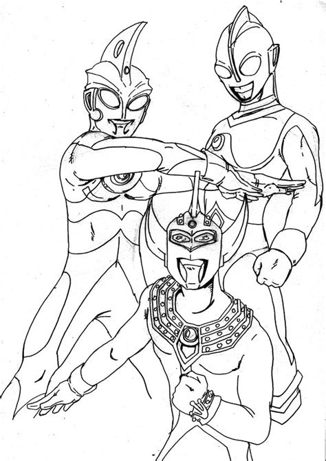 gambar ultraman mebius coloring pages kids  rebanas