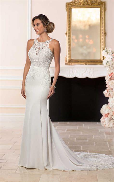 Elegant Backless  Ee  Wedding Ee   Gown Stella York  Ee  Wedding Ee   Dresses