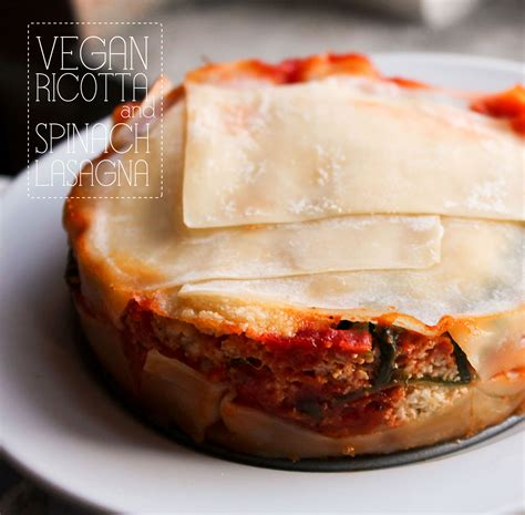Vegetarian Lasagna With Ricotta Cheese And Spinach