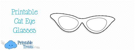 printable cat eye glasses printable treatscom