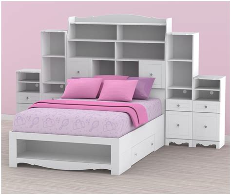 size headboard with shelves headboard bookcase image for bed with