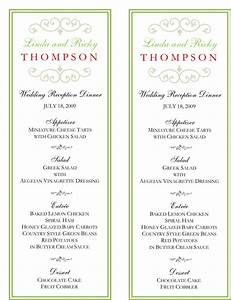 wedding menu template 5 free printable menu cards With wedding menu samples templates