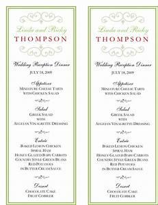 wedding menu template 5 free printable menu cards With examples of wedding menu cards