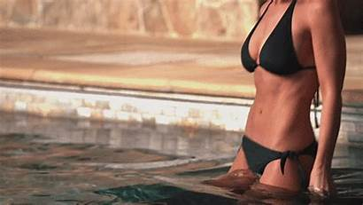 Lacey Chabert Gifs Clad Pool Scantily Getting