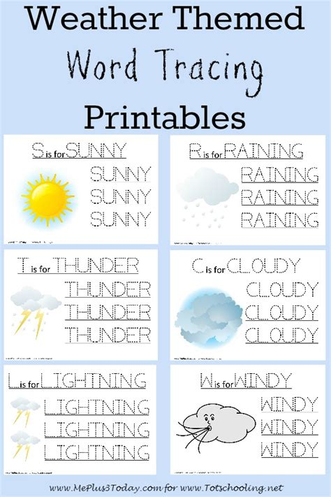 weather activities for preschoolers free weather themed word tracing printables totschooling 557