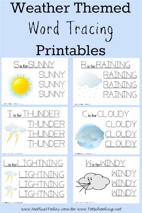 weather activities for preschoolers free weather themed word tracing printables totschooling 927