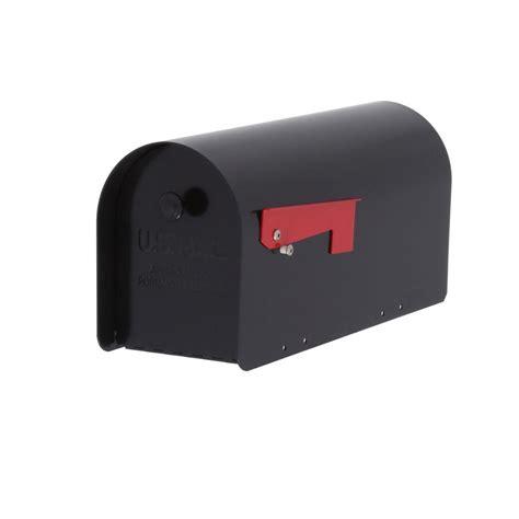 gibraltar mailboxes tuff body post mount mailbox black