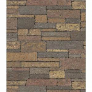 Brewster Stone Wall Wallpaper