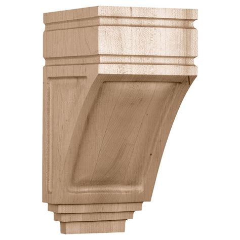 Corbels Wood by Ekena Millwork 5 In X 6 In X 10 1 2 In Unfinished Wood