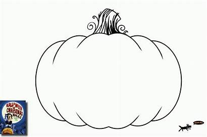 Pumpkin Coloring Template Blank Printable Pages Outline