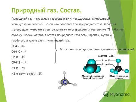 Добыча газа Реферат страница 1 . Химические свойства природных газов