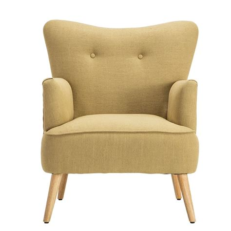 Modern Upholstered Living Room Chairs by Modern Armchair Chair Wooden Leg Home Furniture Living