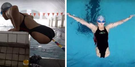une petite fille sans jambes devient championne de natation