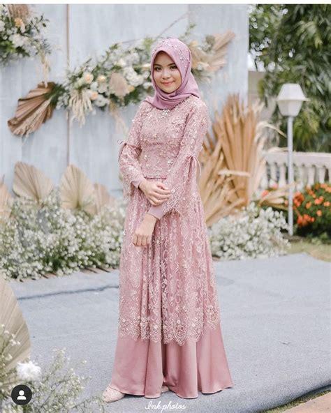 model kebaya muslim brokat modern hijab terbaik