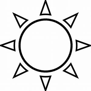 Moon And Sun Drawing Outline - ClipArt Best