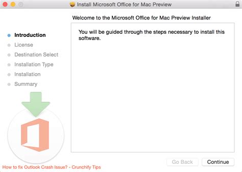 mac bureau microsoft office 2016 for mac preview outlook crashes