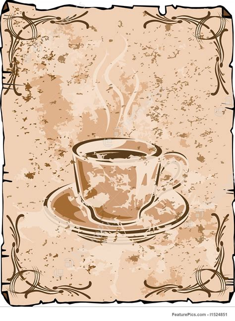 ✓ free for commercial use ✓ high quality images. Vector Coffee Cup Background, Old Grungy Version Coffee Illustration