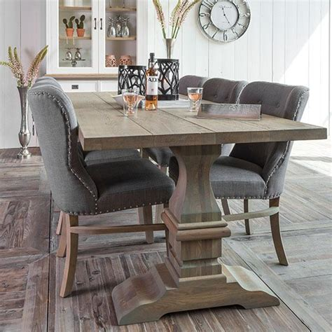 gray kitchen table and chairs grey dining furniture upholstered dining chair modish