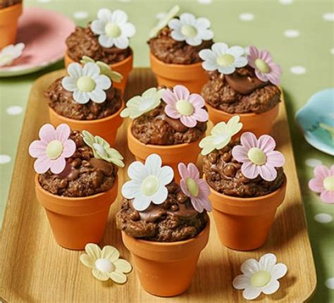 Flowerpot chocolate chip muffins recipe