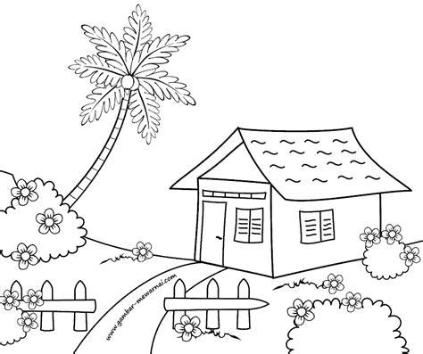 gambar mewarnai rumah sederhana gambar mewarnai easy