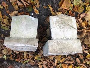 Early, 20th, Pair, Cast, Stone, Corbels, Mounted, On, Stone, Backs