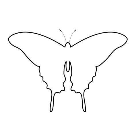 Cute Butterfly Outline Clip Art (36+)