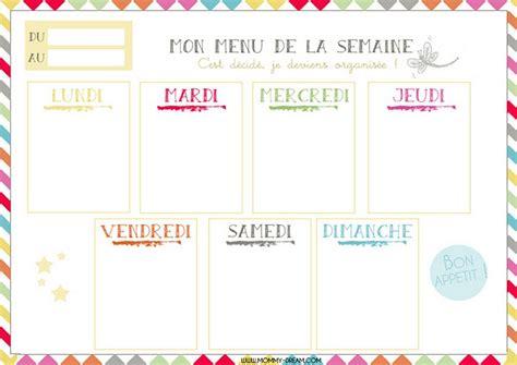 Semainier planning de semaine en pdf imprimable gratuitement. Planning vierge menu de la semaine | Planning vierge, Planning menu semaine, Menu semaine