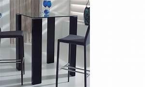 Table Haute Design : table haute design verre et laqu noir berta 2 ~ Teatrodelosmanantiales.com Idées de Décoration