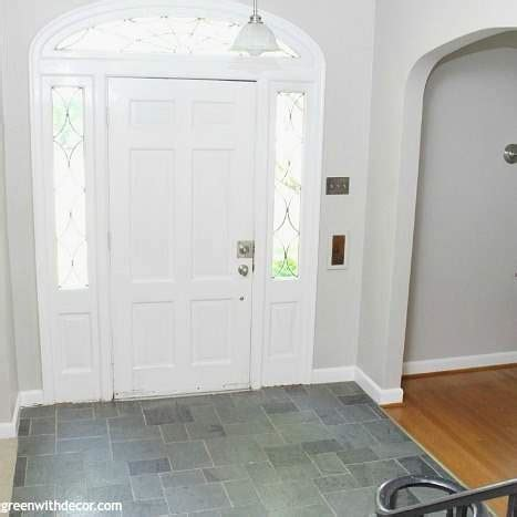 The painted foyer: Agreeable Gray   Green With Decor