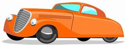 Cartoon Cars Cartoons Clipart Clip Orange Town
