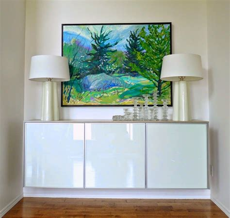 modern credenza ikea diy plywood topped ikea hack floating credenza add wood