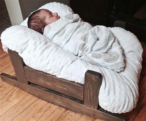 project lady diy wooden baby pillow rocker bassinet
