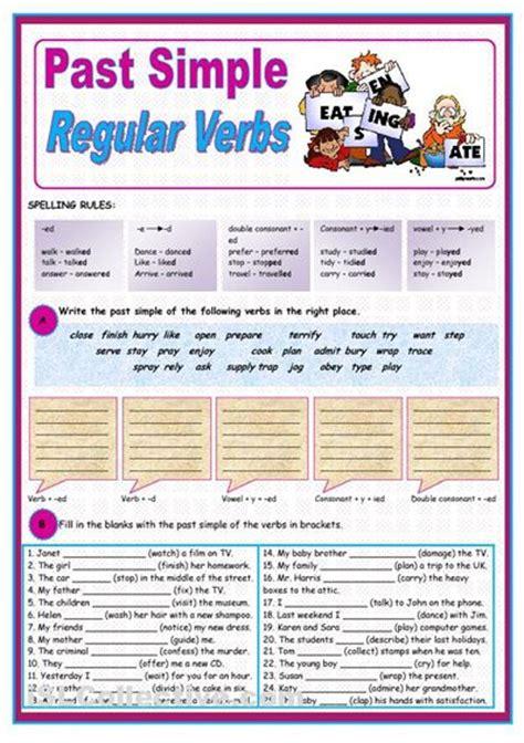 exercise  simple  regular verbs regular verbs