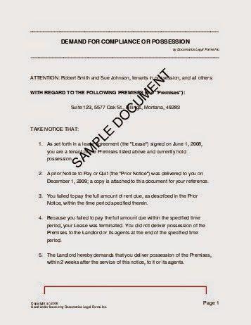 possession letter format ideas   house sample