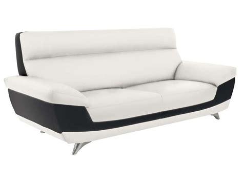 canapé blanc conforama canapé fixe 3 places diagonal coloris blanc noir