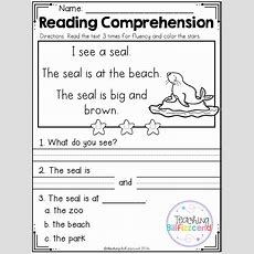 Free Reading Comprehension Passages For Beginning Readers4 Free Emergent Reading… Esl