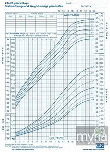 Height Weight Growth Charts For Boys Ages 2 20 Size