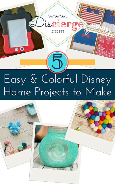 Discierge: 5 Easy & Colorful Disney Home Projects To Make