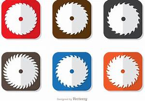 Square Icon Of Circular Saw Blade Vector Pack - Download