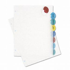 avery 8 tab style edge insertable tab reference dividers With avery templates 11201