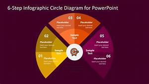 Curved Diagram 6 Steps Powerpoint