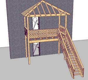 anbaubalkon mit treppe holzbalkon vorstellbalkon balkonbausatz anbaubalkon mit dach und treppe ebay