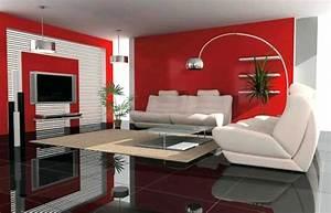 Decoration Peinture : deco maison peinture salon rouge avec deco salon violet et ~ Nature-et-papiers.com Idées de Décoration