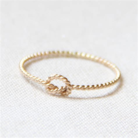 twist knot ring solid 14k gold memory knot ring