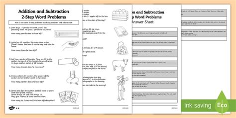 addition and subtraction word problems worksheet worksheet year 2 maths